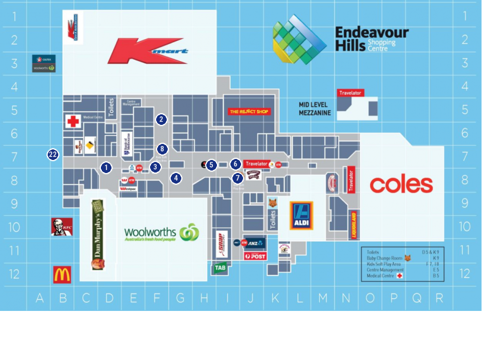 Endeavour Hills Shopping Centre Endeavour Hills Shopping Centre Floor Plan